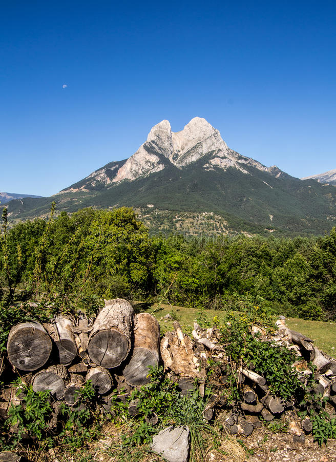 Alone star on the mountain royalty free stock images