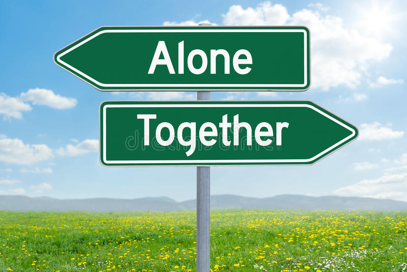 Alone or Together stock photos