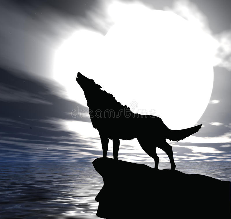 Download Alone wol stock illustration. Image of evening, gray - 18404978