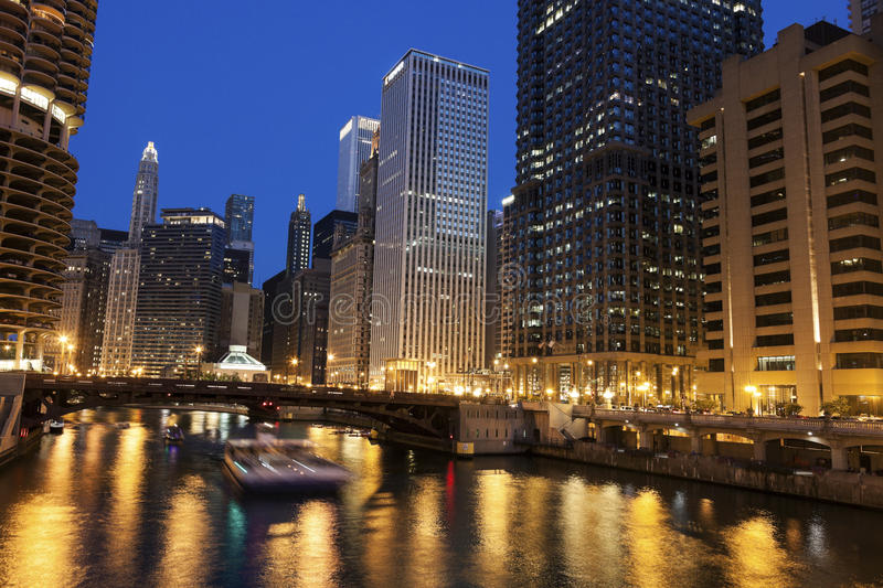 Along Chicago River royalty free stock photo