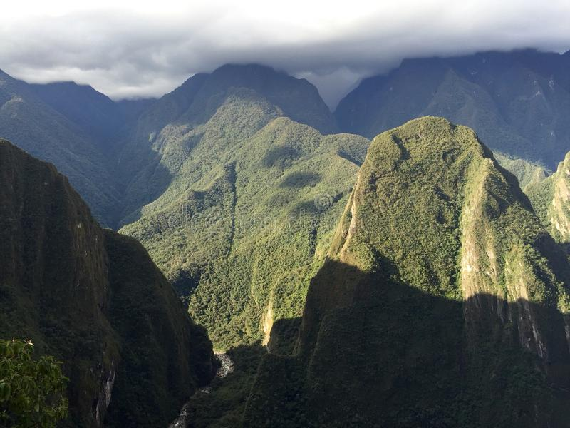 Along the Inca Trail stock image