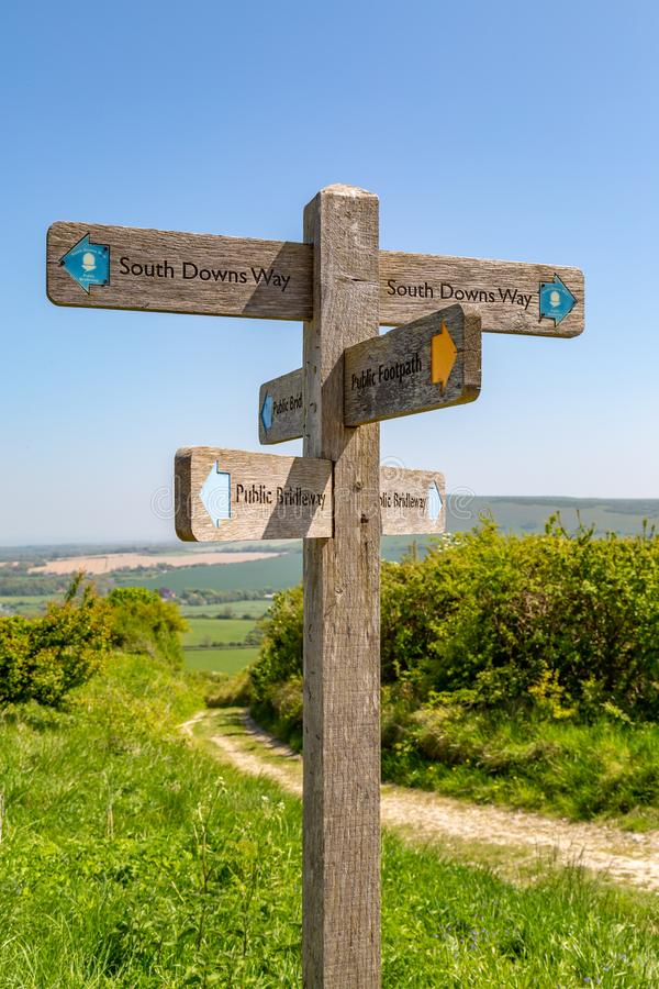 Along the South Downs Way stock photo