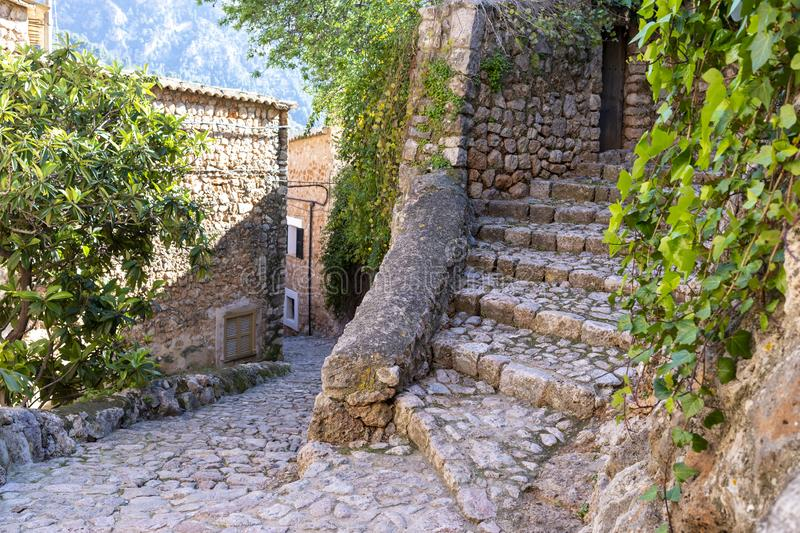 The village of Deia on Mallorca royalty free stock photo
