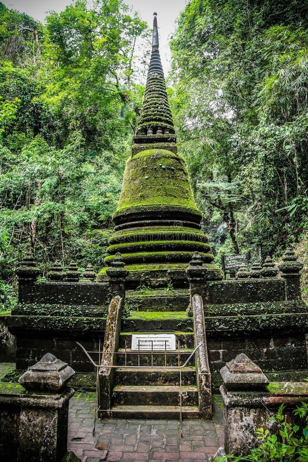 Alongkorn Pagoda at Phliew Waterfall royalty free stock photography