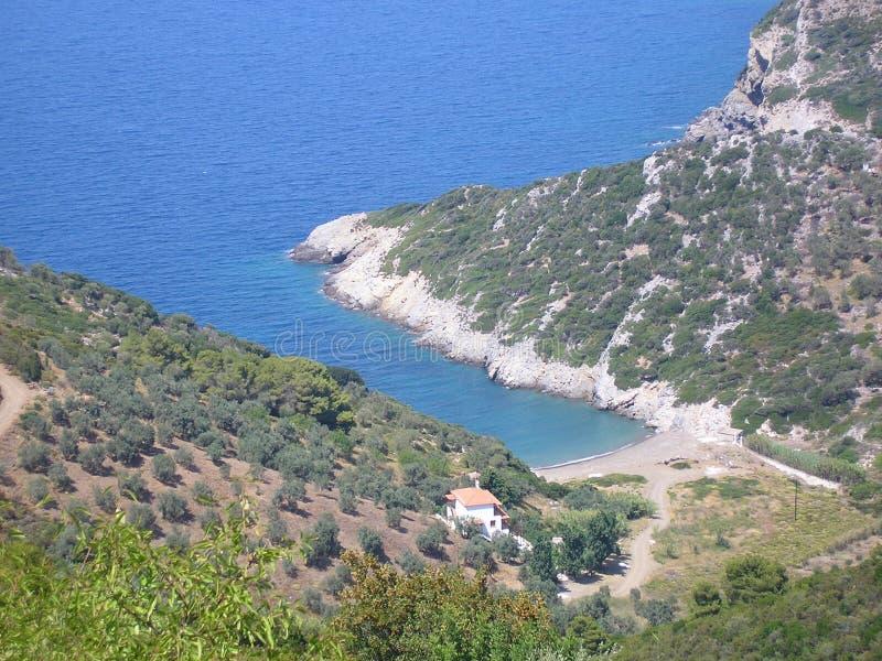 Alonissos Chora Village royalty free stock photo