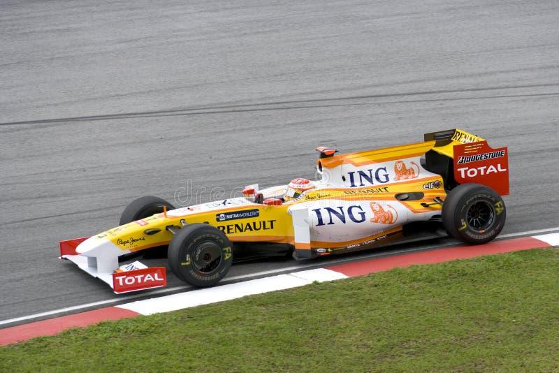 Alonso 2009 f1 fernando Renault de emballage photos stock