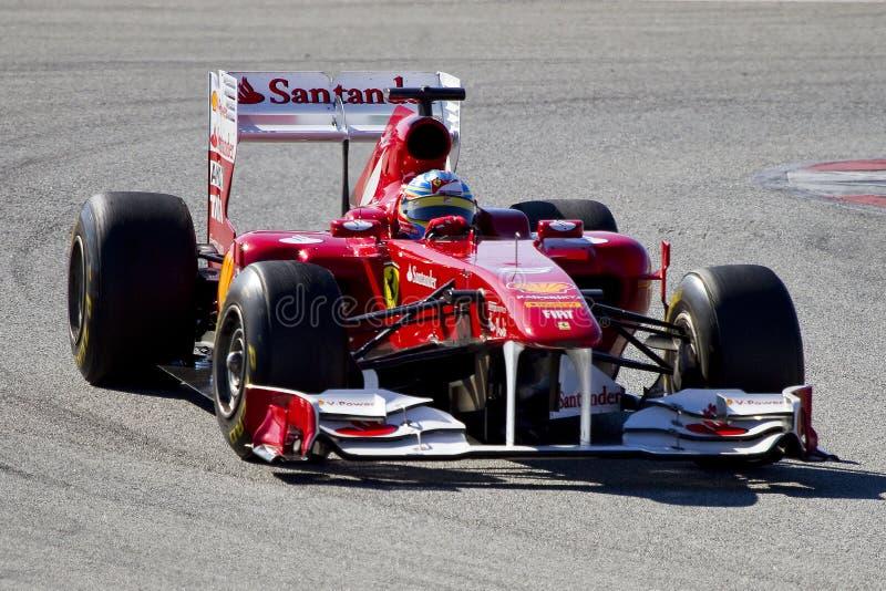 alonso Fernando Ferrari zdjęcia stock