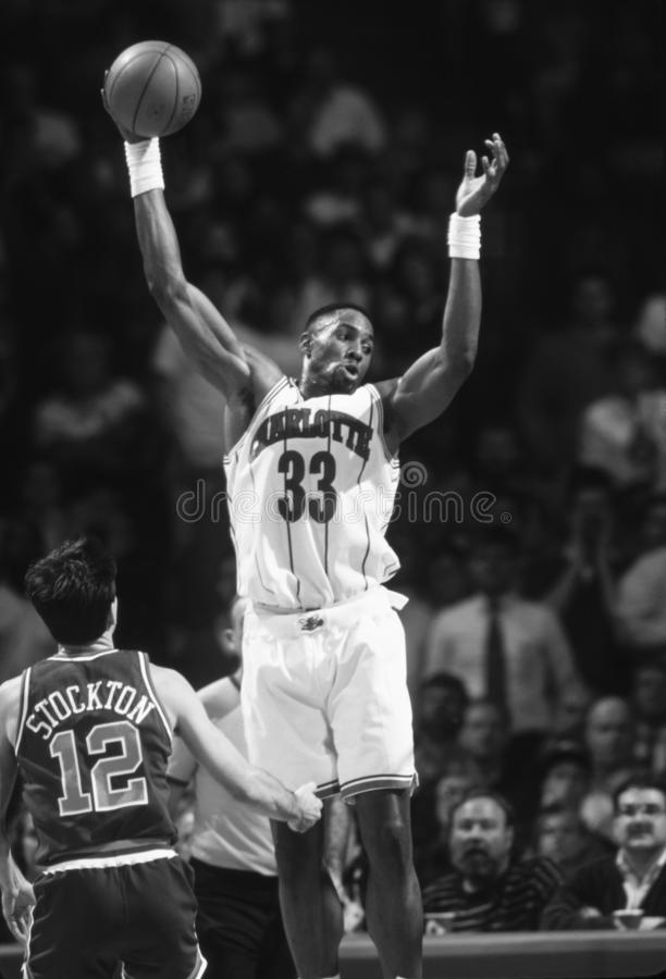 Alonzo Mourning Charlotte Hornets stock foto