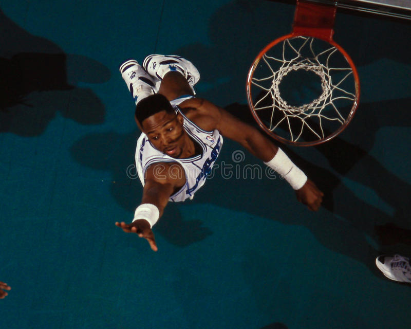 Alonzo Mourning Charlotte Hornets royalty-vrije stock fotografie