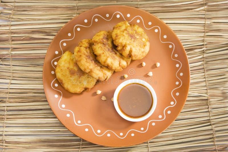 Aloo Tikki of Fried Potato Balls of Chaat royalty-vrije stock foto