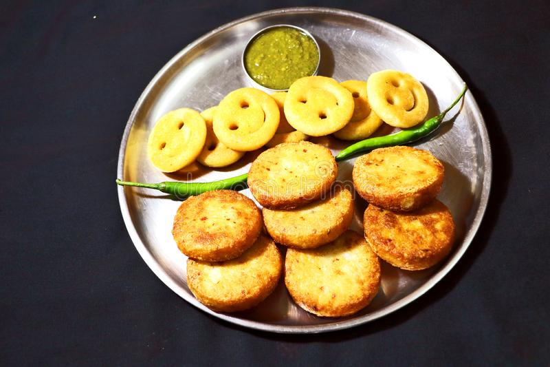 Aloo Tikki of Fried Potato Patties royalty-vrije stock fotografie