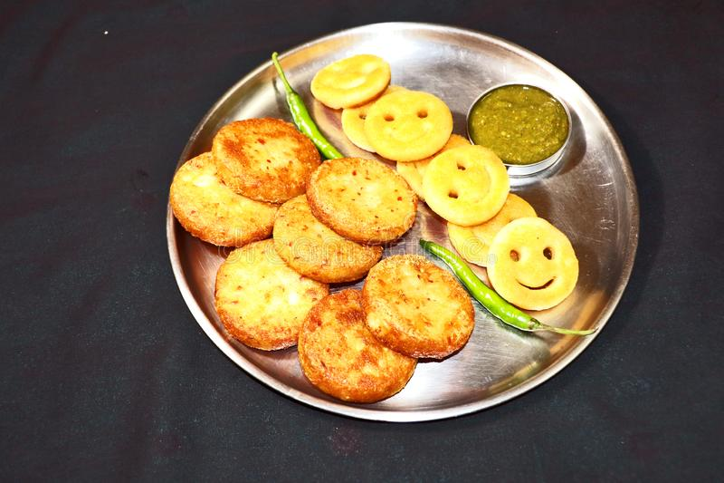 Aloo Tikki of Fried Potato Patties stock foto