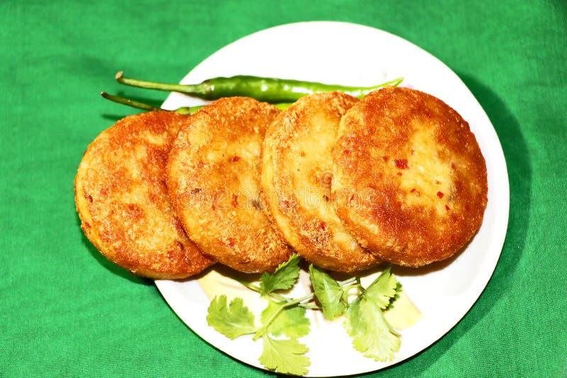 Aloo Tikki ou Fried Potato Patties images libres de droits