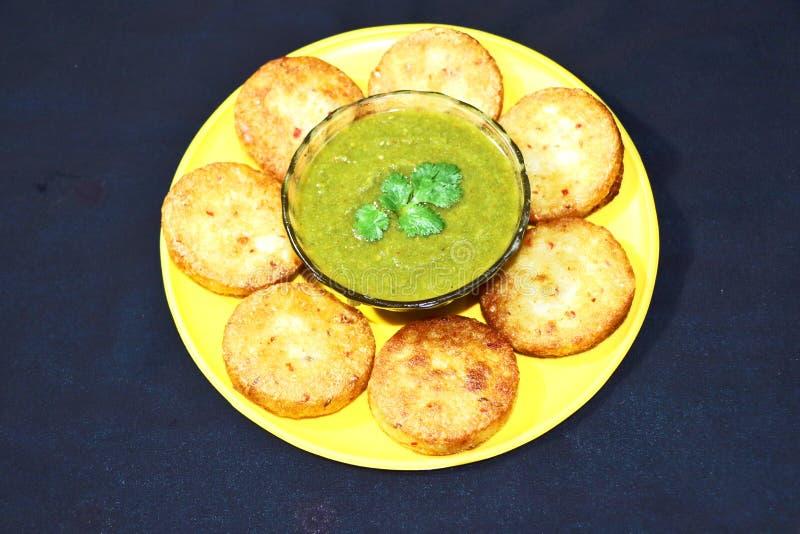 Aloo Tikki ou Fried Potato Patties photographie stock libre de droits
