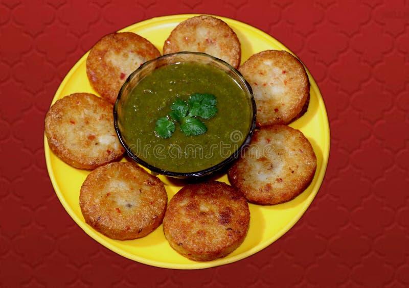 Aloo Tikki ou Fried Potato Patties photo libre de droits