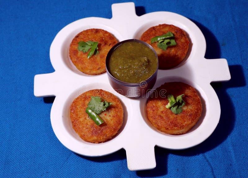 Aloo Tikki ou Fried Potato Patties photographie stock