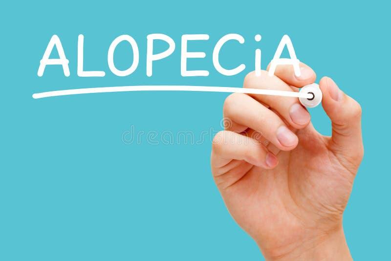 Alopezie-Haarausfall oder Kahlheits-Konzept stockfotografie