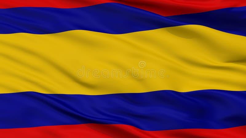 Alor Setar City Flag, estado de Malásia, Kedah, opinião do close up fotografia de stock