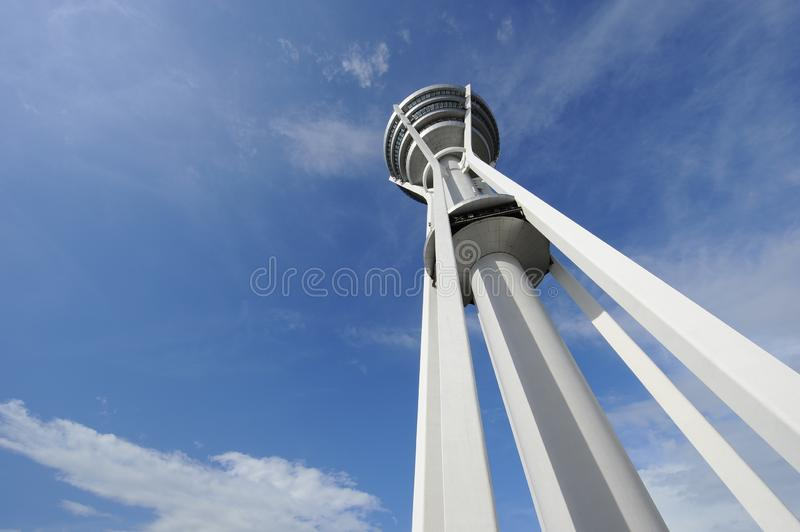 MENARA ALOR SETAR. Alor Setar Tower is a 165.5 m telecommunication tower in Alor Setar, Kedah, Malaysia. Apart from serving the role of a telecommunication tower royalty free stock image
