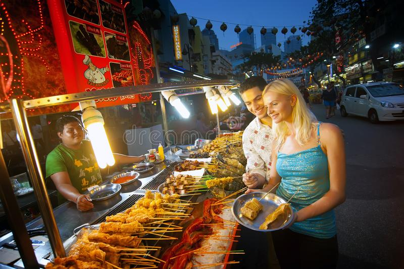 Alor Street Food Night Market imagem de stock royalty free