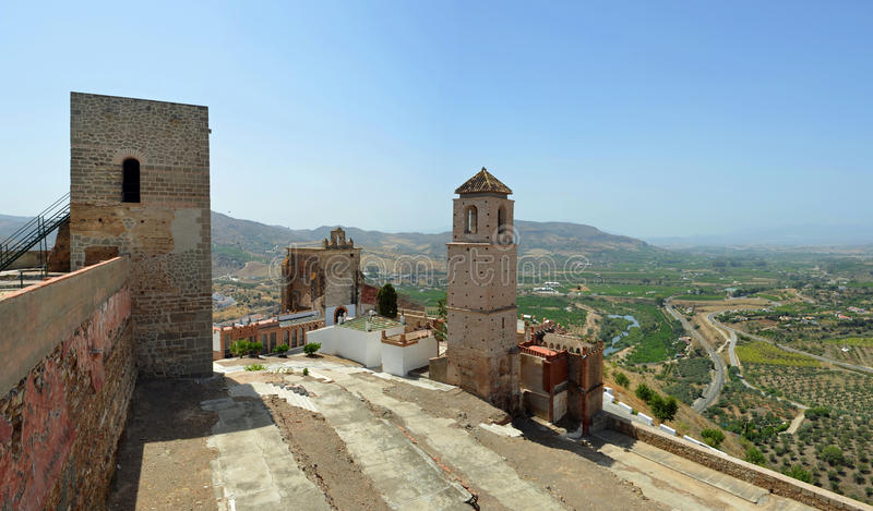 Alora castle and surrounding countryside Andalucia. stock photography