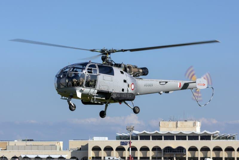 Alouette-Hubschrauber im Dauereinsatz mit AFM lizenzfreie stockfotos