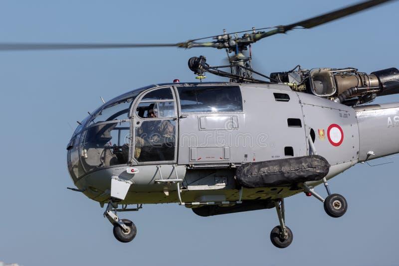 Alouette-Hubschrauber im Dauereinsatz mit AFM lizenzfreie stockfotografie