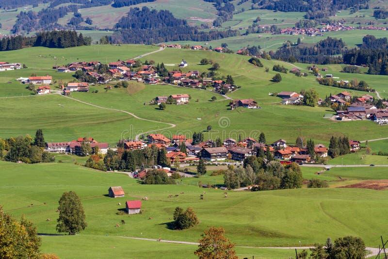 Alp górska wioska fotografia stock