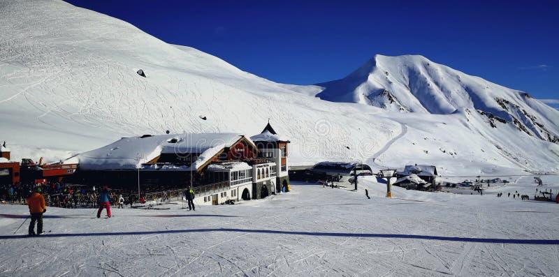 Alp Trida, Silvretta Narciarska arena, Szwajcaria zdjęcia royalty free