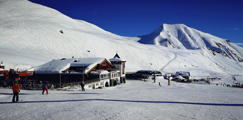 Alp Trida, Silvretta Ski Arena, Suíça fotos de stock royalty free