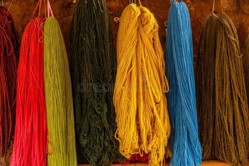 Colourful, Alpaca Wool, Peru stock image