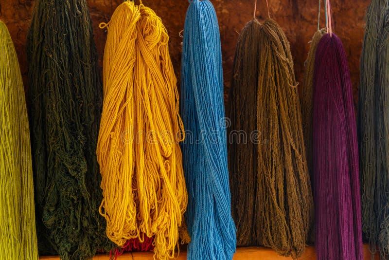 Colourful, Alpaca Wool, Peru royalty free stock photography