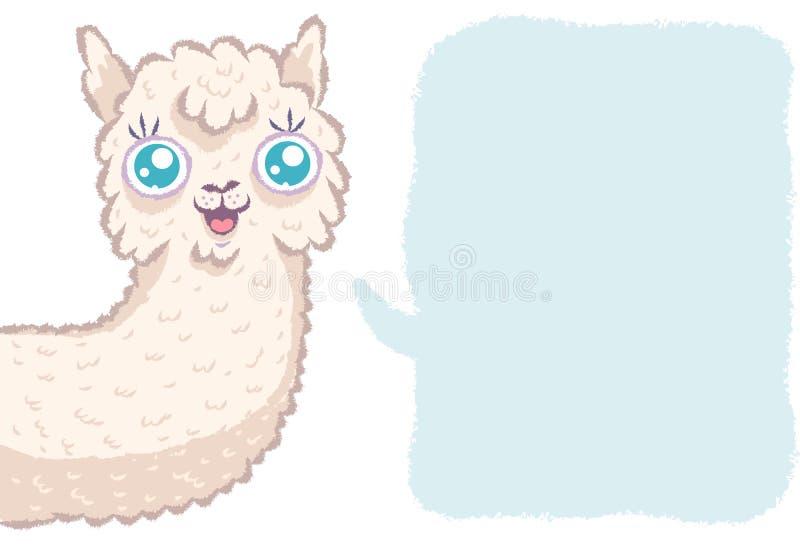 Alpaca linda con la burbuja libre illustration