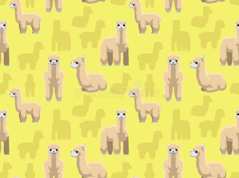 Alpacatapet vektor illustrationer