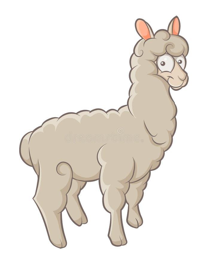 Alpaga ilustracja wektor