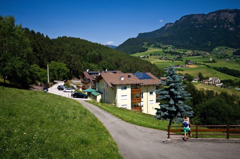 Alpe Di Siusi in de zomer royalty-vrije stock afbeelding