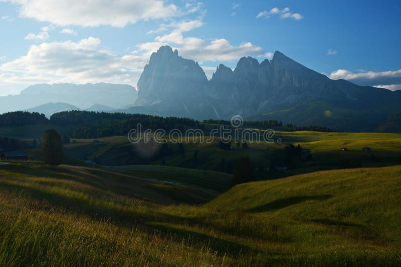 Alpe di Siusi. Italy Dolomite mountain called Alpe di Siusi royalty free stock photos
