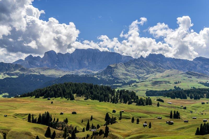 Alpe di Siusi oder Seiser Alm in den Dolomit in Süd-Tirol, Italien lizenzfreies stockfoto