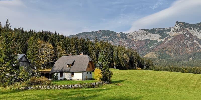 Alpejska wioska otaczaj?ca Alps Stan Styria, Austria, Europa obraz stock