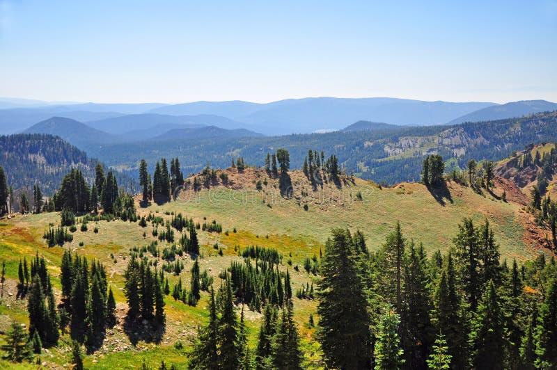 Alpejski Łąkowy Lassen Parkowy Kalifornia fotografia stock