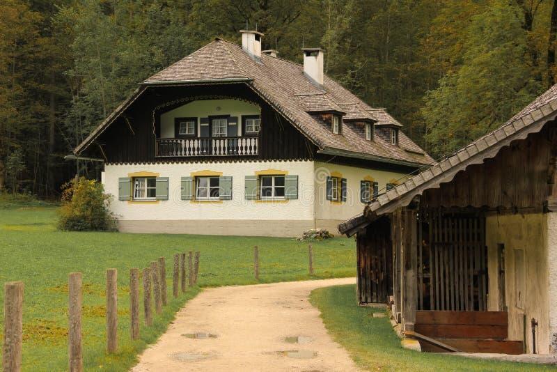 Alpejski bavarian dom St Bartholoma Konigssee Niemcy zdjęcia stock