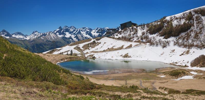 Alpejski jeziorny schlappold w allgau alps obrazy stock