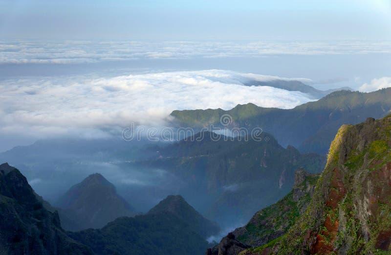 Alpejski krajobraz w madery wyspie zdjęcie stock