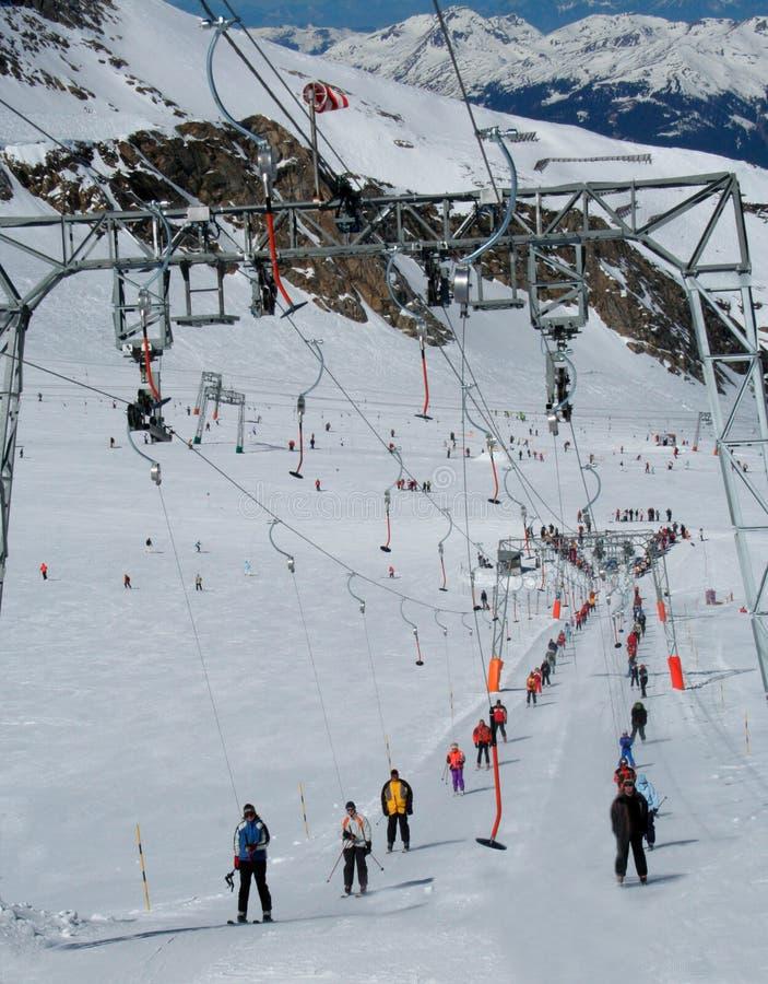 Alpejski narciarski lft obrazy stock