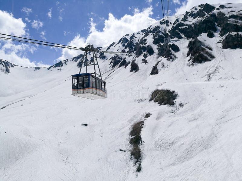 Alpejski ropeway transport Nagano, Japonia zdjęcia stock