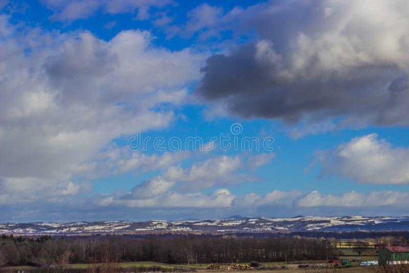 Alpejski zima dzień fotografia royalty free