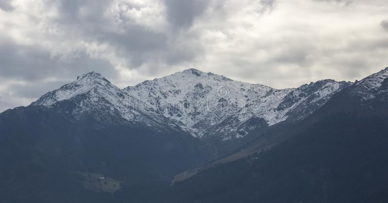 Alpen-Gebirgslandschaft lizenzfreie stockfotografie