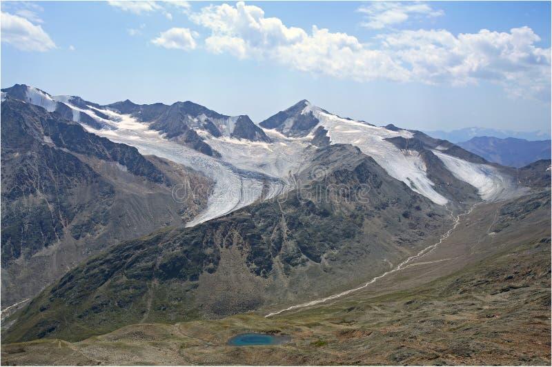 alpen glaciäroetztaler royaltyfri fotografi