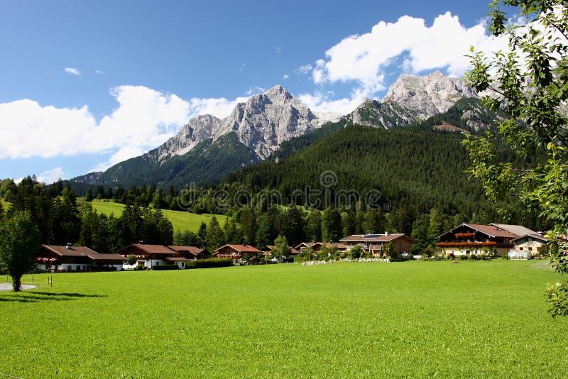 Alpen - Maria Alm stock afbeeldingen