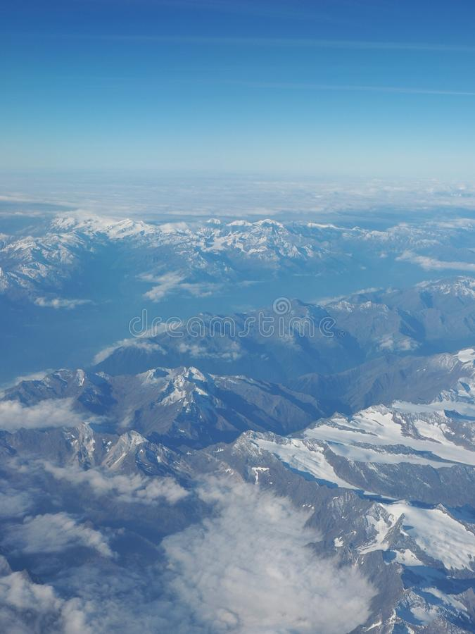 Alpen no céu foto de stock